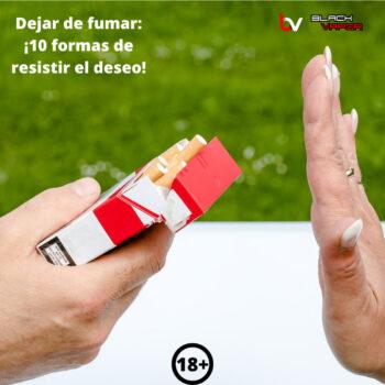 Dejar de fumar: 10 formas de resistir el deseo de consumir tabaco